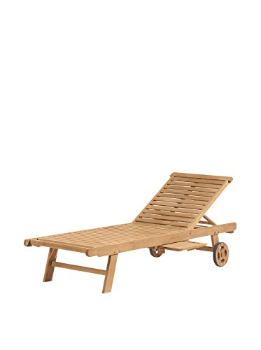 Oxford Garden Oxford Chaise Lounge, Natural