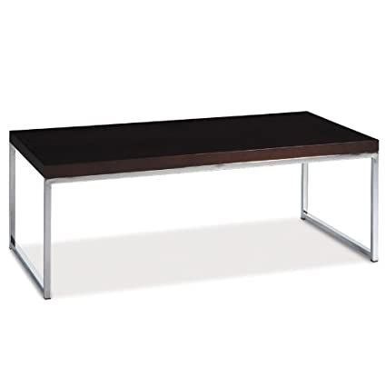 AVE SIX Wall Street Coffee Table, Chrome and Espresso [Misc.] # WST12