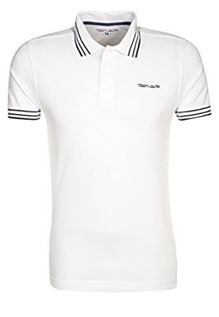 Mens PASIAN Polo shirt white | Teddy Smith | Smart New Winter 2014 - 2015 Menswear Classic UK Fit Overwear | United Kingdom Sizes (S)