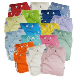 Fuzzi Bunz Cloth Diapers One Size 9 Pack Boys Colors with Bonus Carshade BONUS