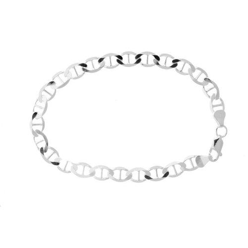 Solid Sterling Silver Mariner Link Bracelet