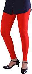 Unicraft Women's Cotton & Lycra Leggings (unicraft-020Red-Ankel)