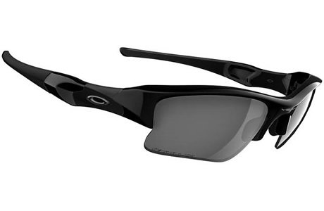 Oakley Men's Flak Jacket XLJ Polarized Sunglasses,Jet Black Frame/Black Lens,one size