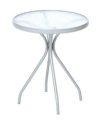 Bistrotisch / Tisch ALASSIO Stahlgestell + Glasplatte, rund 60cm