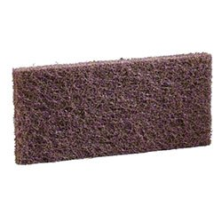 3M 08004 Doodlebug Pads, Commercial-Strength 8541 Brown Scrub & Strip Pads (5/cs)