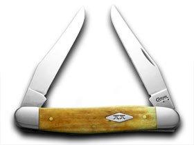 CASE XX Smooth Antique Bone Muskrat 1/500 Pocket Knife Knives