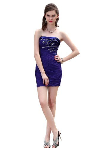 Topwedding Strapless Mini Sheath Cocktail Dress