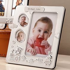 "Lenox Bundle of Joy Baby Picture Frame 7.5"" Hold 4 Photos"