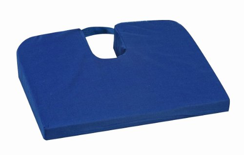 Mabis Dmi Healthcare Sloping Seat Mate Coccyx Cushion, Navy Blue, One front-714276