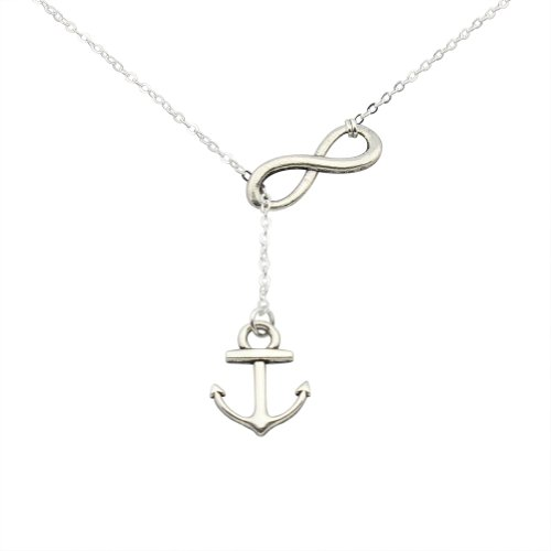 elbluvfr-silver-plated-zinic-alloy-handmade-anchor-and-infinity-lariat-y-necklace-18inches