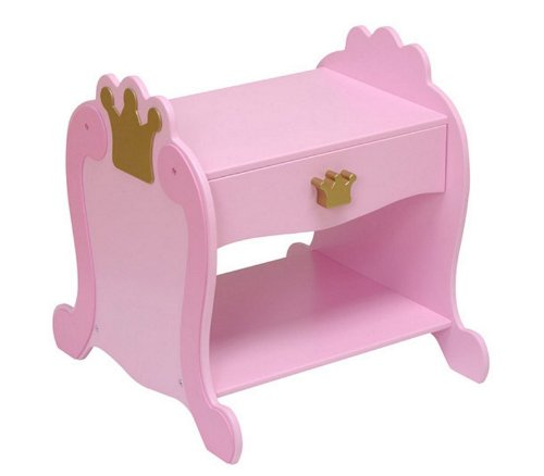 Cheap Pink Finish Kid's Princess Toddler Side Table Nightstand (AZ00-30990×25201)