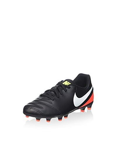 Nike Scarpa Da Calcio Jr Tiempo Rio Iii Fg [Nero/Rosso/Bianco]