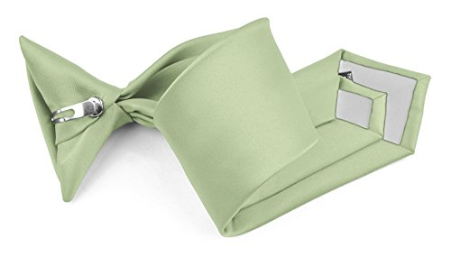 Moda Di Raza - Boy's NeckTie Solid Clip on Polyester Tie - Mint Green/8 (Neon Color Neck Ties compare prices)