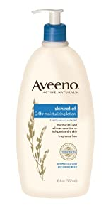 Aveeno Active Naturals Skin Relief 24 Hour Moisturizing Lotion, 18 Ounce