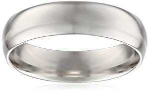 Men's Platinum Comfort-Fit Plain Wedding Band (6 mm), Size 12