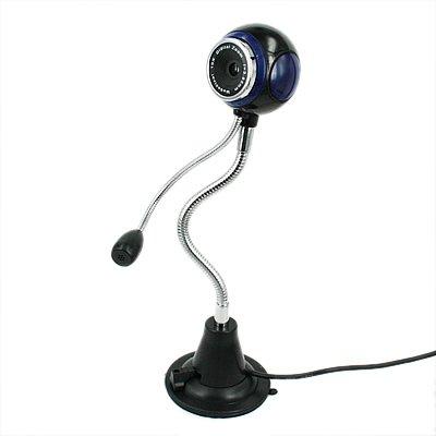 HDE® Blue USB Webcam on Flexible Neck w/ Mic