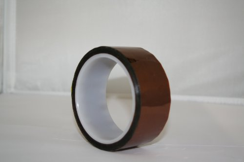 "Maxi 825 Polyamide Film Electrical Tape With Silicone Pressure Sensitive Adhesive, 1/2 Mil Thick, 36 Yds Length, 2"" Width, Amber"