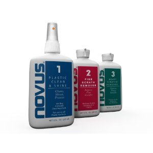 Novus plastic polish 1, 2 & 3. 8oz set (237ml)