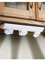 Under Cabinet, Over Counter Swivel LED Battery Operated White Lights