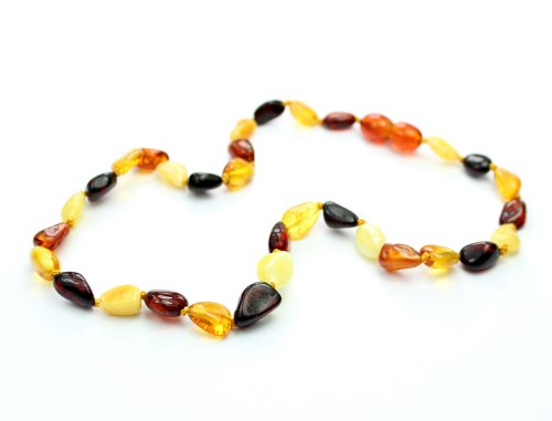 SilverAmber Genuine Baltic Amber Teething Necklace - Multi Colour - NE0027