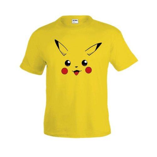 Camiseta Pokemon - Cara de Pikachu Talla:S