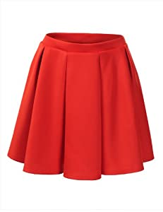 J.TOMSON Womens Basic Skater Skirt