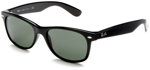 Ray-Ban Ray-Ban RB2132 New Wayfarer  Sunglasses,Black Frame/G-15-XLT Lens,55 mm