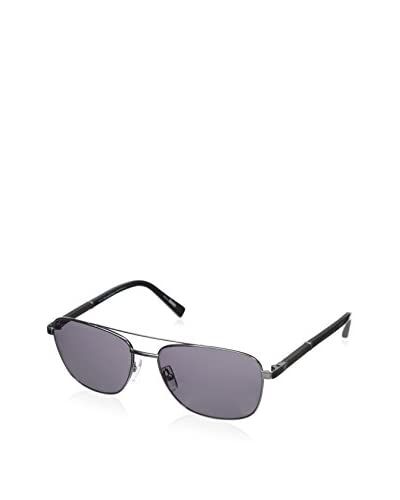 Ermenegildo Zegna Men's EZ0014 Sunglasses, Matte Dark Ruthenium/Smoke Polarized