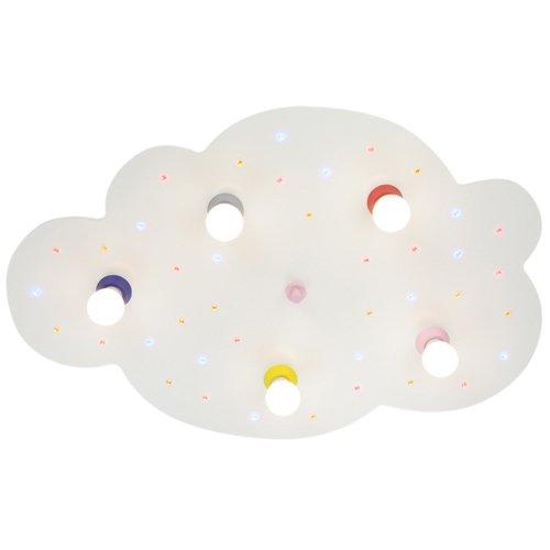 Elobra Deckenleuchte Wolke, weiß mit bunten LEDs 124826