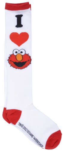 Elmo Sesame Street Heart Juniors Knee High Foot Socks