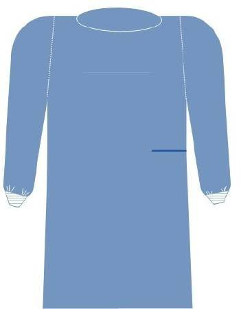 Medline Surgical Gown Surgisoft Extra Large Sms Fabric Blue Adult