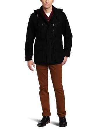 (1.7折)英国French Connection Woolthorpe Manor 男士英伦时尚 灰色羊毛大衣$50.21