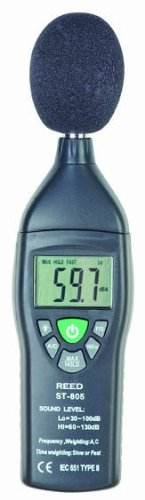Reed St-805 Sound Level Meter, 35 To 100 Db And 65 To 135 Db Range, +/-1.4 Db Accuracy