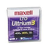 Maxell LTO Ultrium 3 400/800GB 1,000,000+ Head Passes Tape Cartridge