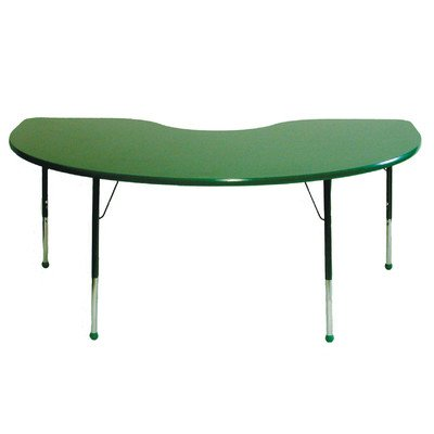 72 x 48 Kidney Table Edge Color: Forest Green, Top Color: Forest Green, Leg Height & Glide Style: Standard 21-30 Ball Glide