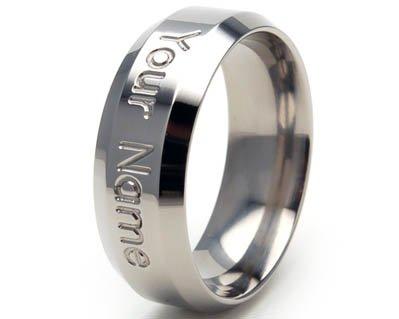 Image #1 of 8 mm Personalized Titanium Ring,