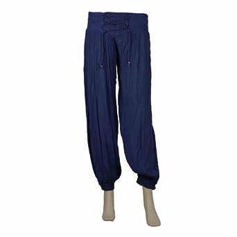 Amazon.com: Capri Pants For Women Rayon Indigo Loose Fit Comfort Waist