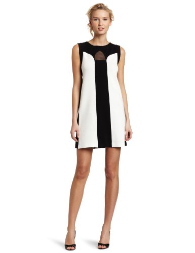 Yoana Baraschi Women's Apres Tennis Cut-out Mini Dress, Black/Milk, Medium