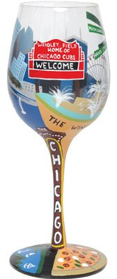 Chicago Wine Glass