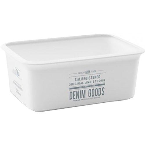 Kis 8428100207201-Scatola riponi-oggetti Chic Box Denim Goods, 1,5l, plastica, Multicolore, 19x 13x 8cm