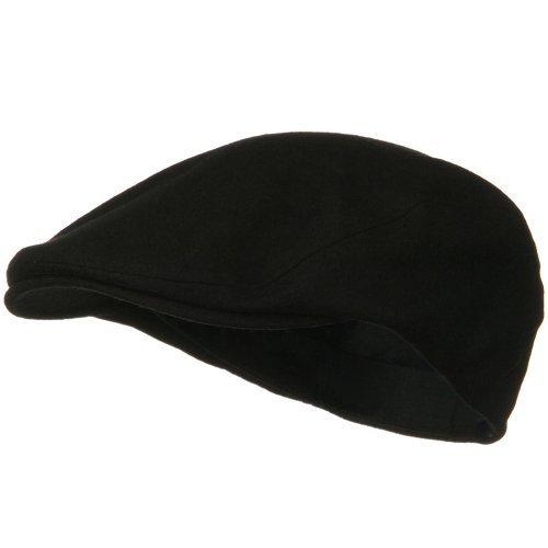 MG Men's Wool Ivy Newsboy Cap Hat (Black), One Size