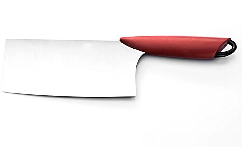 Motawator Chef'S Collection Stainless Steel Cleaver Red Handle Lmlm-Dzdf01A