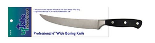 Update International Kge-04 Stainless Steel Forged Curved Blade Boning Knife, 6-Inch
