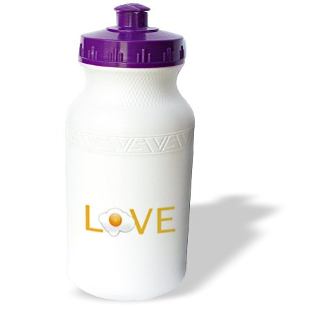 Wb_180475_1 Inspirationzstore Love Series - Love Eggs - Text With Sunny Side Up Fried Egg For O Fun Breakfast Food - Water Bottles