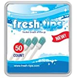 Fresh Tips (Fresh-Tips) disposable toothbrush breath freshener with peppermint xylitol mint 50pk