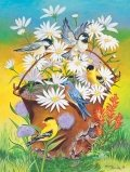 SunsOut Bucket of Birds 500pc Jigsaw Puzzle by Sandy Ruskino (B004HSFQ8C)