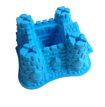 Design amis Moule Moule en silicone de bébé Moule Anniversaires d'Enfants Enfants Surprise Moules Pâtisserie 3D Château Fort