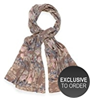 M&S Collection Pure Cashmere Floral Print Scarf