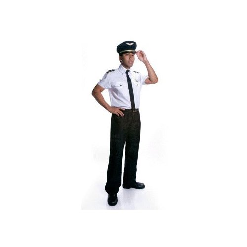 Airline Pilot Adult Halloween Costume Size Large