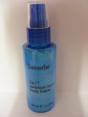 Bath & Body Works Breathe Happiness 24/7 Moisture Boost Body Lotion ~ Blissful Citrus Watermint ~ 1.7 fl. oz. (50 ml), Travel-Sized 50 Ml Bath
